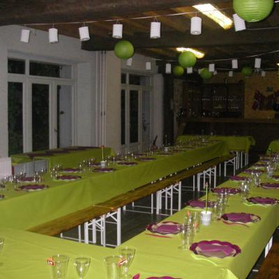 Salle décorée lors de mariage